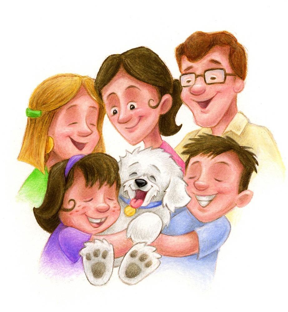 Детские картинки моя семья для детского сада